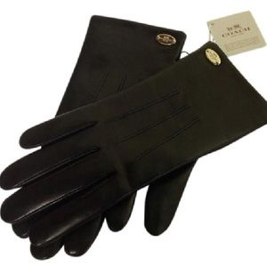 NWT Coach Lambskin Leather Gloves